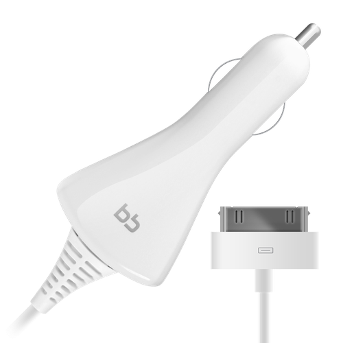 Car Charger 004-001 s30pin 1A 1.2m, white