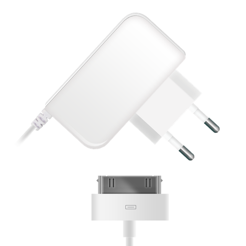 Car Charger 004-001 s30pin for Apple 1A 1.2m, white
