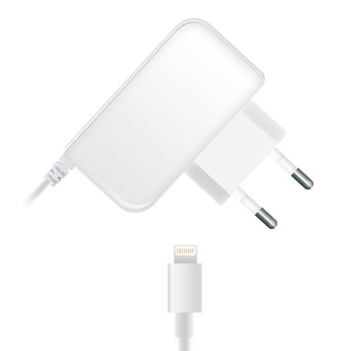 Travel Charger 005-001 s8pin 1A 1.2m, white