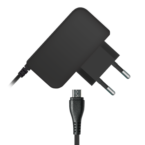 Travel charger microUSB 002-001 1A 1.2m, black