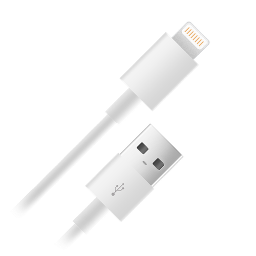 Дата-кабель 003-001 USB-s8pin (lightning) для Apple 1м
